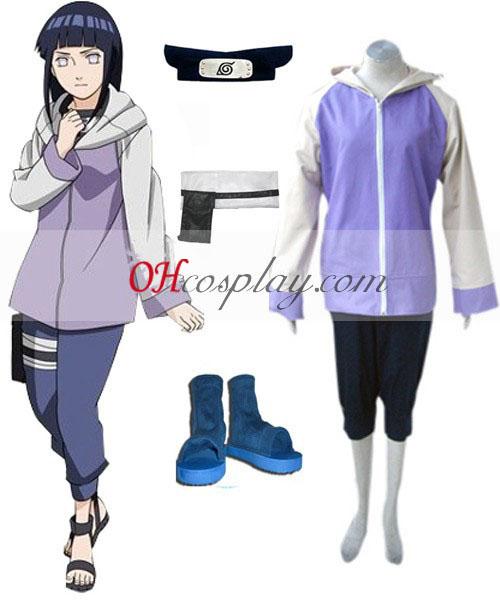 Naruto Shippuden Hinata Hyuga Cosplay Traje Definido