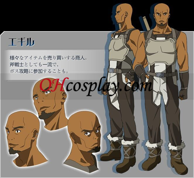 Sword Art Online Agil Cosplay Traje