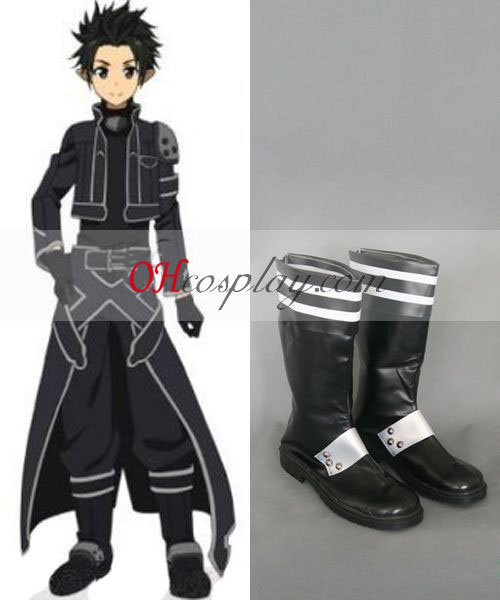 Sword Art Online (on-line) ALfheim Kirito Novo Cosplay botas