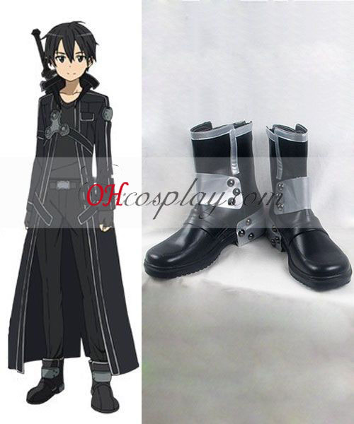 Sword Art Online Kirito Cosplay Halloween Shoes Online