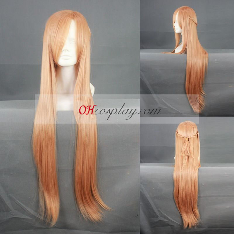 Svärd Art Online Asuna Orange Cosplay peruk