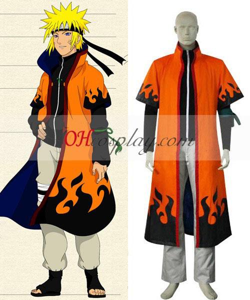 Naruto sjette Hokage Uzumaki Naruto Cosplay kostyme