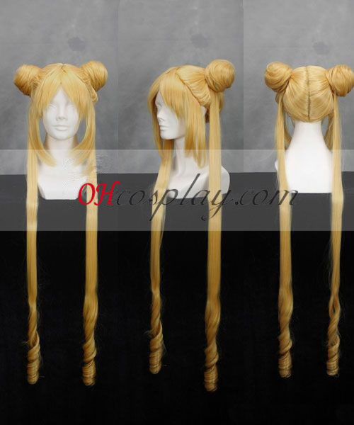 Sailor Moon Serena Tsukino Yellow Cosplay Wig