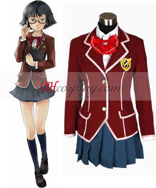 Guilty Crown Inori Yuzuriha School Uniform Costume Carnaval Cosplay