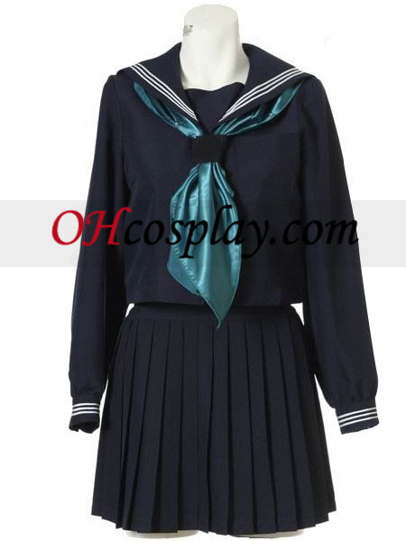 Long Sleeves Sailor Uniform Cosplay Kostüme Kostüm