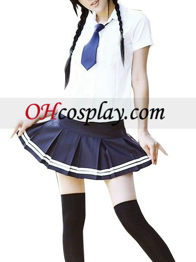 Wit Korte Mouwen School Uniform Cosplay Kostuum