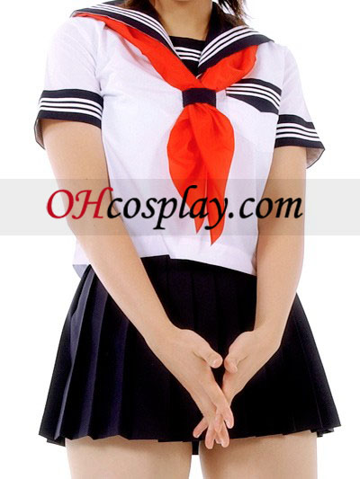 Mini Rok Korte Mouwen School Uniform Cosplay Kostuum