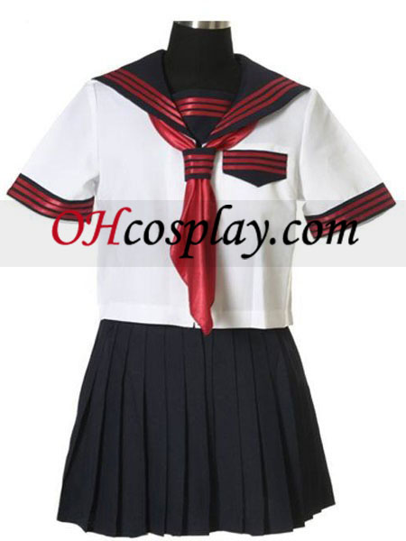 Черен диафрагма къси ръкави Sailorl еднакво Cosplay костюм