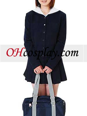 Black Long Sleeves School Uniform Cosplay Costume