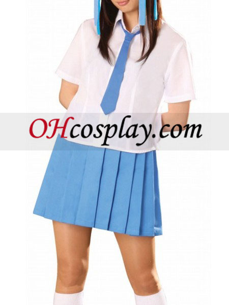 Blue Tie Blue Short Sleeves School Uniform Cosplay Costume Australia
