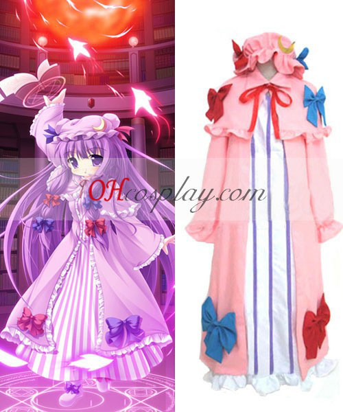 Touhou Project Patchouli Knowledge cosplay dräkt