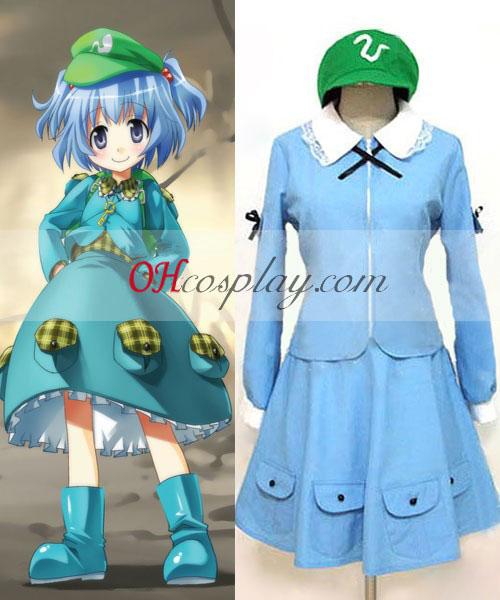 Touhou проект Kawashiro Nitori cosplay костюм