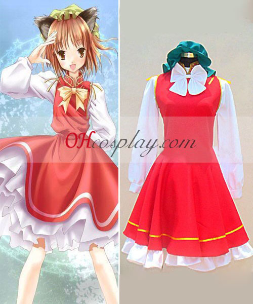 Touhou Project Chen cosplay traje