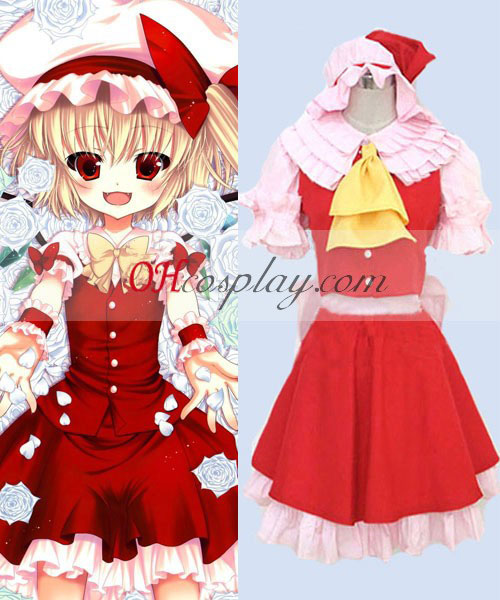 Touhou Project Flandre Scarlet cosplay traje