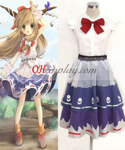 Touhou Project Ibuki Suika cosplay kostume
