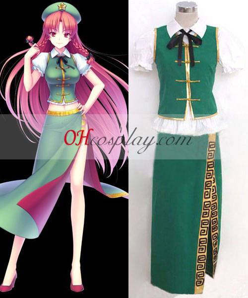 Hong Meiling Touhou Project cosplay dräkt