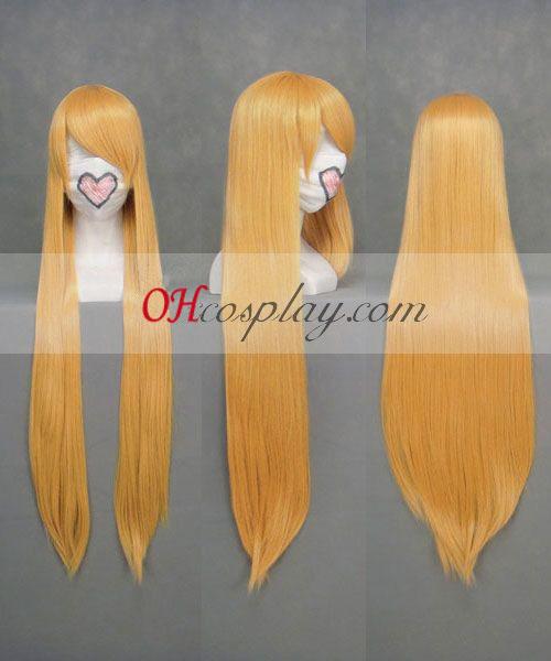 Touhou проект Hoshiguma Yugi жълт Cosplay Wig