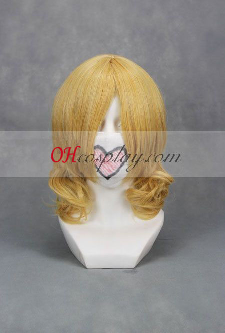 Touhou Project Alice Margatroid Light Yellow Cosplay Wig