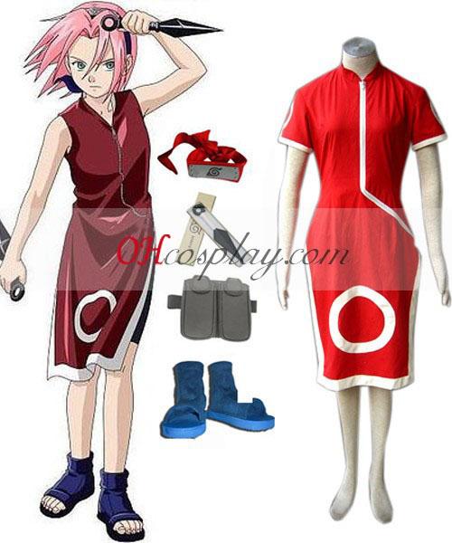 Naruto Haruno Sakura 1° Costumi Carnevale Cosplay Set