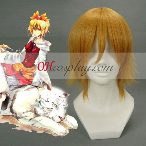 Touhou Project Toramaru Shou Brown Cosplay Wig