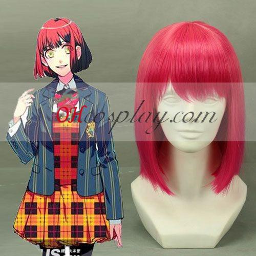 A fejedelem Uta-sama Haruka Nanami vörös parókát Cosplay