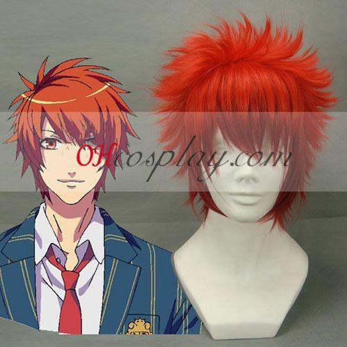 Компания Uta № принц-sama Otoya Ittoki червено Cosplay Wig