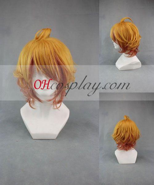 Компания Uta № принц-sama Natsuki Shinomiya жълт Cosplay Wig