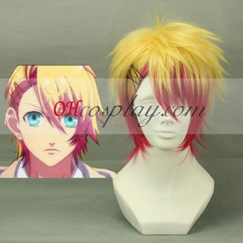 Uta no Prince-sama Syo Kurusu Yellow & Red Cosplay Pruik