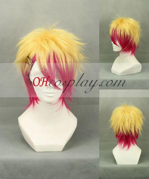 Компания Uta № принц-sama Syo Kurusu жълт&червено Cosplay Wig