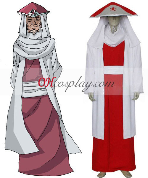 Naruto Hokage 3ème Sarutobi Hiruzen Costume Carnaval Cosplay