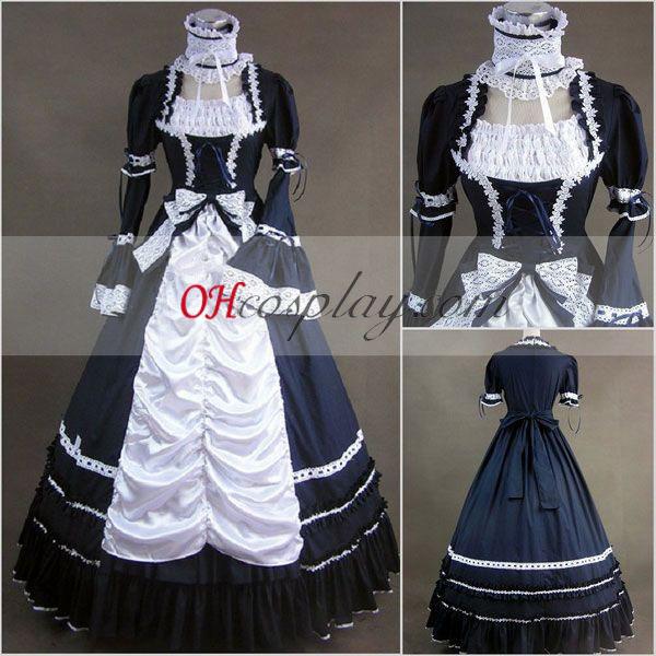 Mazarina långärmad Gothic Lolita Klänning