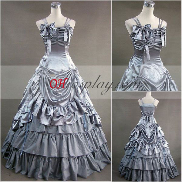 Gray Sleeveless Gothic Lolita Dress