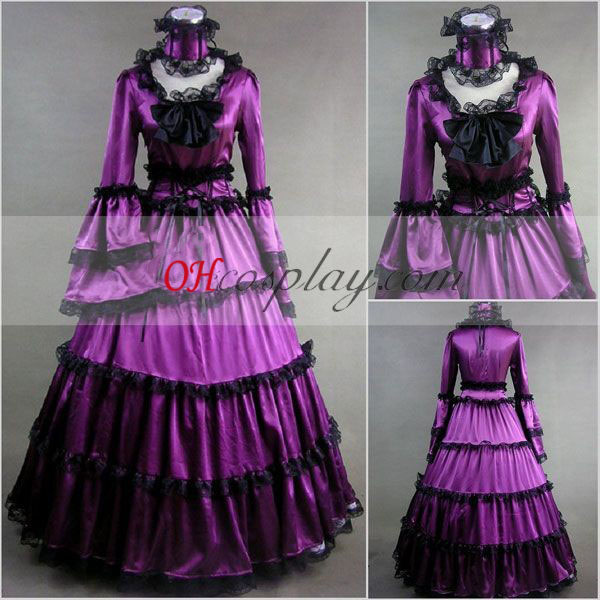 Purple Long Sleeve Gothic Lolita Dress
