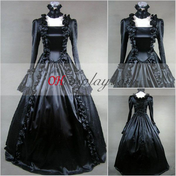 Black Long Sleeve Gothic Lolita Dress
