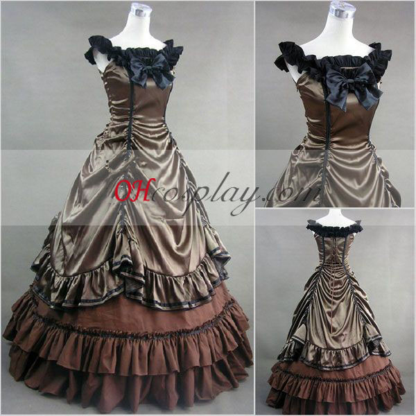 Sepia Sleeveless Gothic Lolita Dress