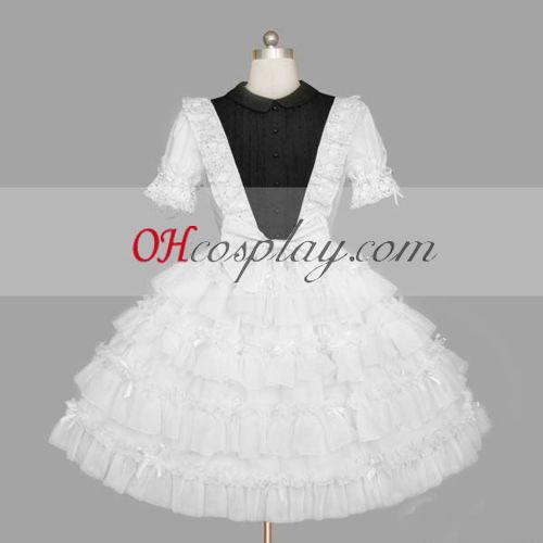 Hvit gotiske Lolita kjole