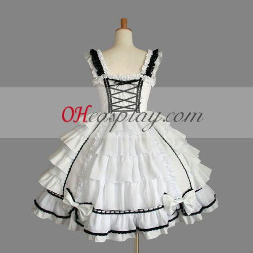 Бял готските Лолита рокля Хелоуин костюми България