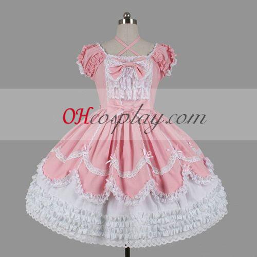 Rosa gotiske Lolita kjole