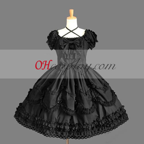Black Gothic Lolita Dress Japanese Cosplay