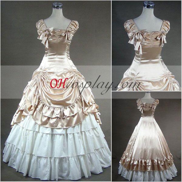 Aprikos Ermeløs gotiske Lolita kjole