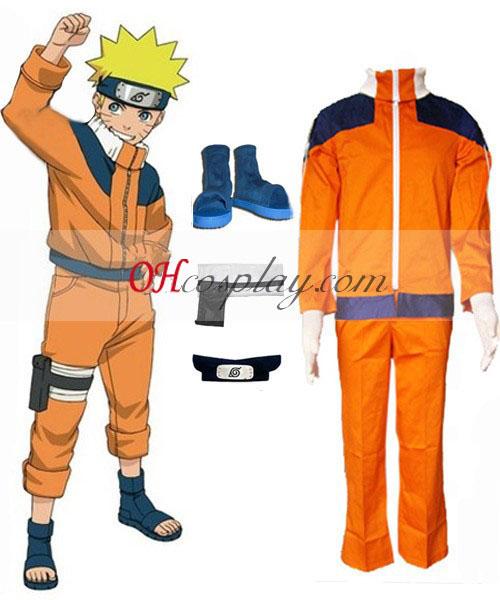 Naruto Uzumaki Naruto 1st Cosplay Costume Set