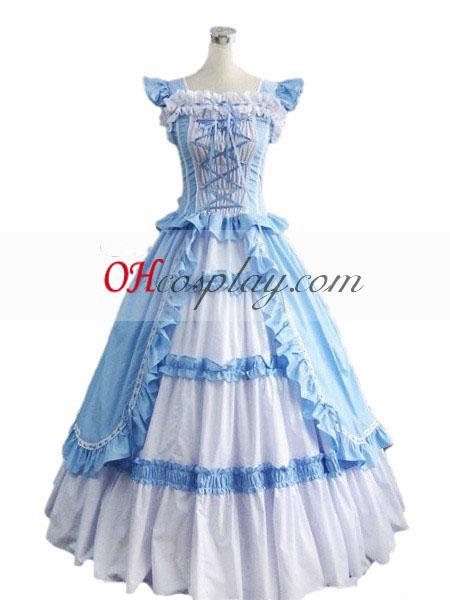 Blå Ermeløs gotiske Lolita kjole