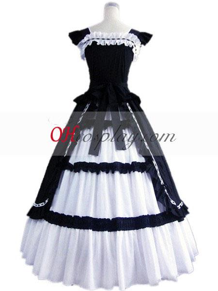 Mørkeblå ærmer Gothic Lolita Kjole