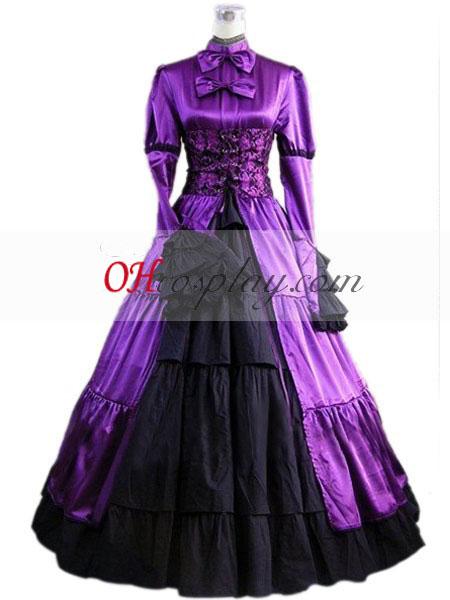 Bíbor színű hosszú ruha Gothic Lolita