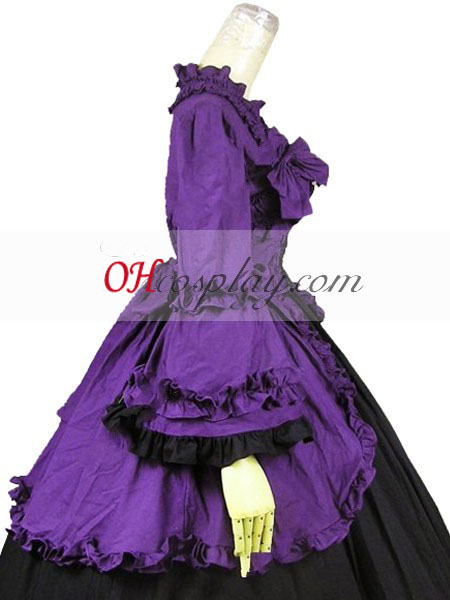 Lilla langærmet Gothic Lolita Kjole
