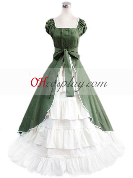 Green Sleeveless Gothic Lolita Dress