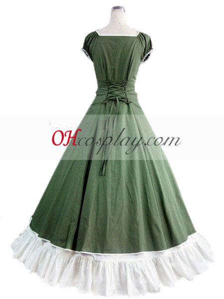 Green Sleeveless Gothic Lolita Kjole