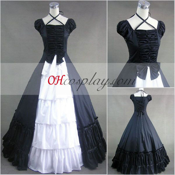 Sapphire Blue Sleeveless Gothic Lolita Dress