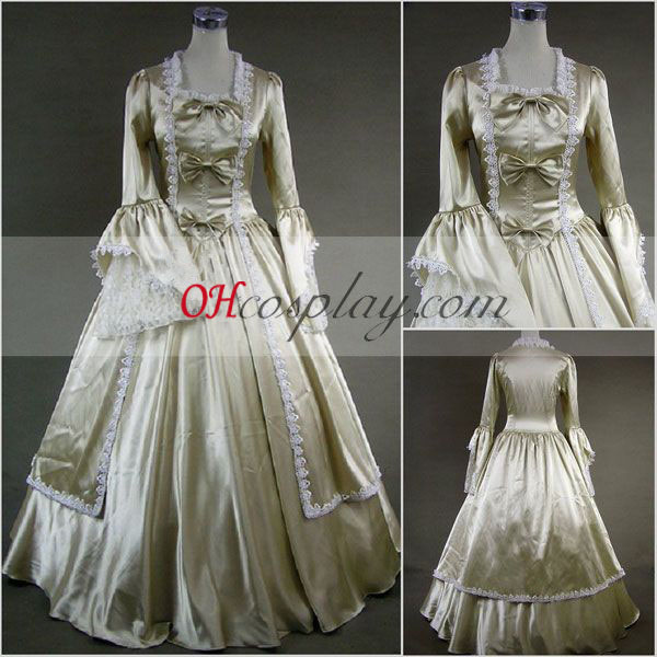 Silvery Long Sleeve Gothic Lolita Dress