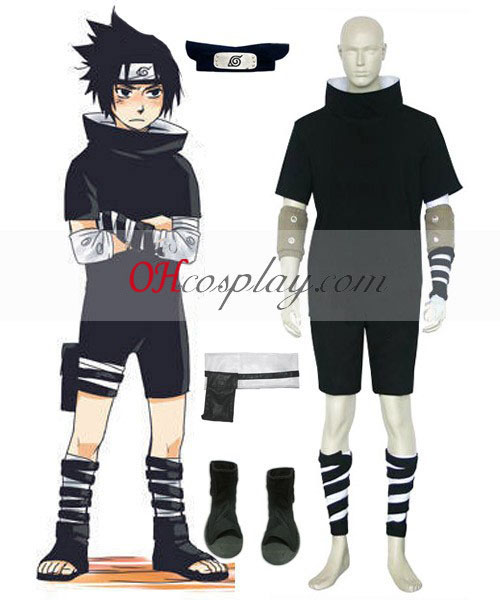Naruto Uchiha Sasuke 1st Cosplay Costume Australia